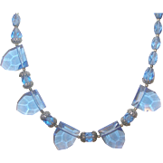 Art Deco Faceted Glass necklace