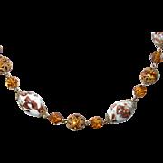 Vintage Czechoslovakian Bead Necklace