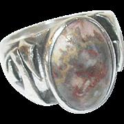 Vintage Sterling Ring Modernist Design