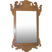 Antique Tiger Maple Mirror 1790's-1820's