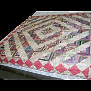 Vintage Silk Quilt Patchwork 1910