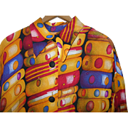 Vintage Blouse/Dress Bakelite Bangle Print by Christine Jaguin