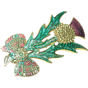 Vintage Thistle Brooch