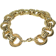 Vintage Link Bracelet Yellow Gold Wash