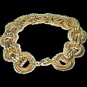 Vintage Link Bracelet Yellow Gold Wash