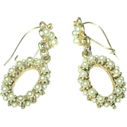 Vintage Faux Pearl Drop Earrings