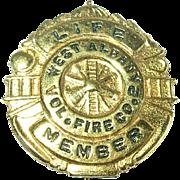 Vintage Volunteer Fire Company 2 Brooch Albany, NY
