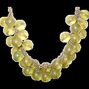 Early Plastic Bibb Necklace Semi Translucent Beads
