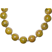 Vintage Bakelite Bead Necklace