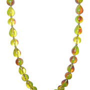 Vintage Iridescent Bead Necklace Early Plastic