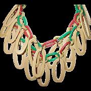 Vintage Lucite Link Necklace