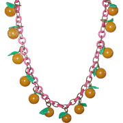 Vintage Bakelite Lucite Fruit Necklace