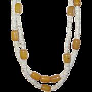Two Vintage Bakelite Seashell Necklaces