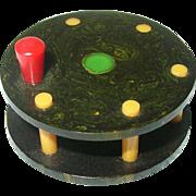 Vintage Bakelite Lucite Miniature Fishing Reel