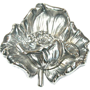 Antique Sterling Brooch by Kirk Repousse Work