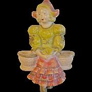 Vintage Chalkware Wall Figure Dutch Girl