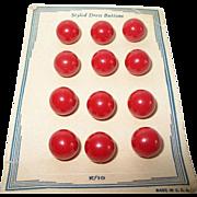 Vintage Bakelite Buttons Set 12pcs