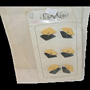 Vintage Bakelite Buttons Set 6pcs