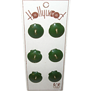 Vintage Bakelite Buttons by Hollywood Seashell Design Set 6pcs