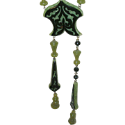 Vintage Bakelite Lucite Necklace