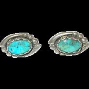 Vintage Sterling Turquoise Earrings