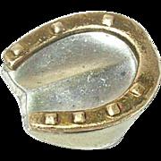 Vintage 800 Coin Silver Gucci Button Horseshoe