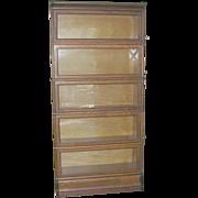 Quarter Oak 5 Stackable Lawyers Bookcase Original Key