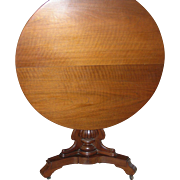 Tilt Top Table Original Casters 1860's