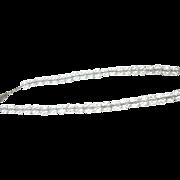 Vintage Sterling Faceted Rock Crystal Bed Necklace