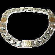 Vintage Sterling/14K Link Bracelet