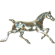 Vintage Sterling Horse Brooch by Beau