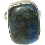 Vintage Sterling Labradorite Ring