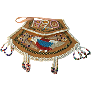 Vintage Native American Beaded Pouch 1920
