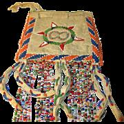 Vintage Native American Hand Beaded Bag