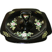 Elegant Glass Enameled Bonbon Dish