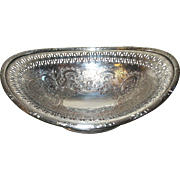 Vintage English Silverplate Bonbon Dish Openwork