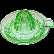 Depression Glass Green Juice Squeezer