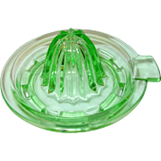 Depression Glass Green Juice Squeezer