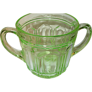 Depression Glass Green Lg Sugar Bowl