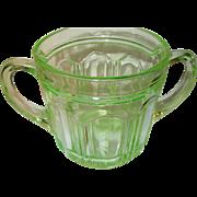 Depression Glass Green Lg Sugar Bowl