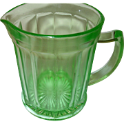 Depression Glass Green Pitcher Anchor Hocking