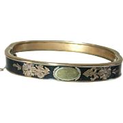 Victorian Gold Filled Hinged Bangle