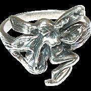 Vintage Sterling Ring Fairy Design