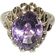 Sterling Amethyst Cabana Ring