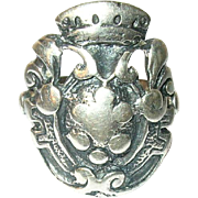 Vintage Ring 800 Coin Silver Peruzzi