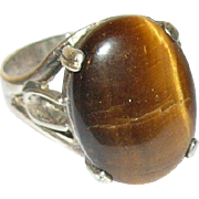 Vintage Ring Sterling Tiger's Eye