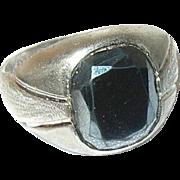 Vintage Ring Sterling Hematite
