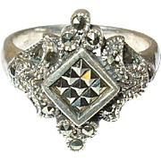 Vintage Ring Sterling Marcasite