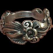 Vintage Ring Sterling Raised Design