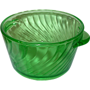 Depression Glass Green Ice Bucket Swirl Pattern